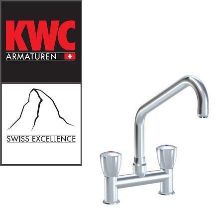 """KWC Gastro K.24.42.K5.000C34 1/2"""" Zweigriff-Gastronomiearmatur - Zweiloch - nieder - gerade"""