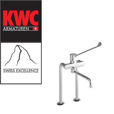 KWC Gastro K.24.62.44.000B87 Gastro Spültisch-Armatur mit langem Hebel - Auslauf kurz - Zweiloch