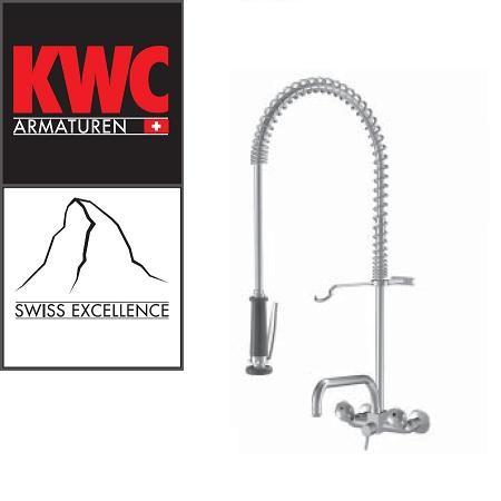 KWC Gastro K.24.42.74.000C78 Wand-Geschirrbrause - Zweihebelmischer mit Schwenkauslauf
