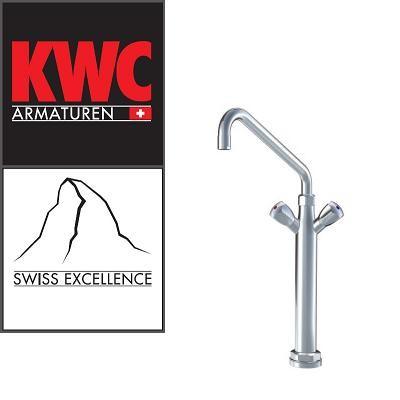 KWC Gastro K.24.41.34.000C07 Gastronomie Zweigriff-Kochblockarmatur mit Vormontagesockel