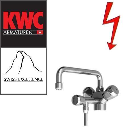 KWC Gastro 105.101 C Niederdruck-Thekenarmatur mit Unterspülrohr einfach - Zweigriffmischer