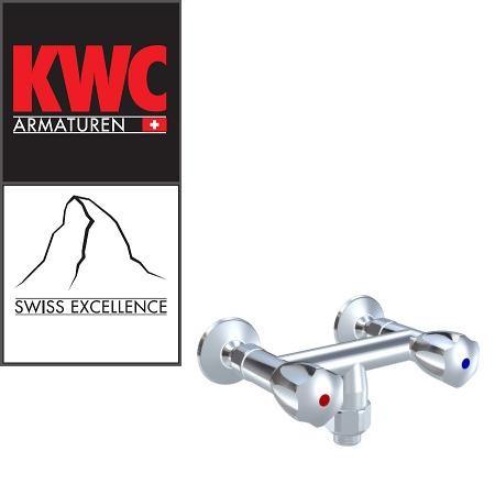 """KWC Gastro K.24.42.18.000C86 Gastronomie-Zweihebel-Wandarmatur mit Schlauchanschluss 1"""""""