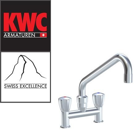 """KWC Gastro K.24.42.E1.000C35 3/4"""" Zweigriff-Gastronomiearmatur - Zweiloch - nieder - gerade"""