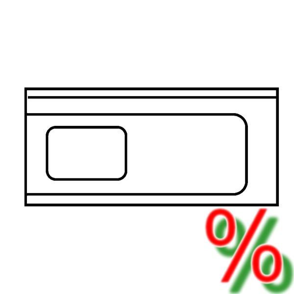 Zulauftisch Ecoline rechts - Breite 120 cm
