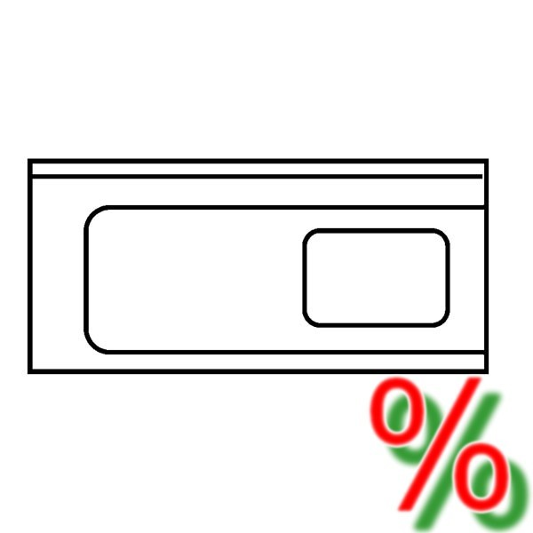 Zulauftisch Ecoline links - Breite 120 cm