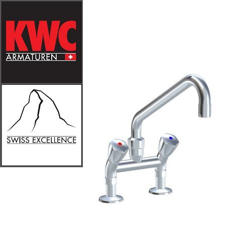 """KWC Gastro K.24.42.42.000C74 3/4"""" Zweigriff-Gastronomiearmatur - Zweiloch - nieder - geneigt"""