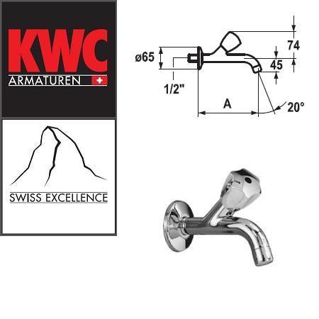 """KWC Gastro K.25.40.04.000C34 1/2"""" Wasserhahn 225 mm - Auslaufhahn - Wandventil"""