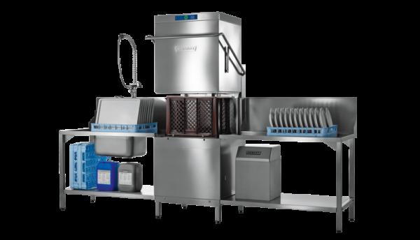 Hobart PROFI AMXXLS-10A mit Wasserenthärter Haubenspülmaschine